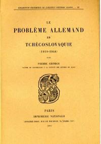 Le problème allemand en Tchécoslovaquie, 1919-1946