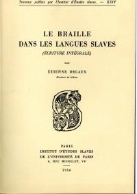 Le braille dans les langues slaves