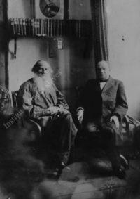 LNTI 1.16 L.N. Tolstoï et A.F. Koni, avril 1904