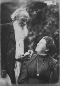 LNTI 2.55 Portrait de L.N. Tolstoï avec sa fille Aleksandra Lvovna