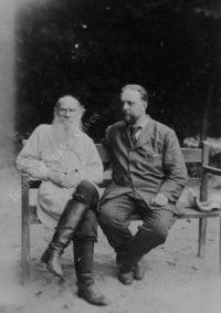 LNTI 4.16 L.N. Tolstoï avec son ami et disciple Vladimir Tchertkov