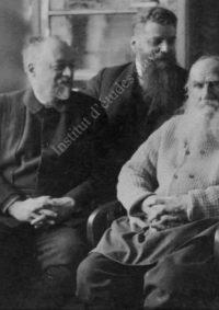 LNTI 4.28 M.S. Soukhotine, M.A. Stakhovitch et le comte L.N. Tolstoï