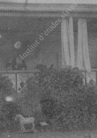 LNTI 4.33 L.N. Tolstoï et Sofia Tolstoï sur la terrasse