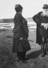 LNTI 4.46 Aleksandra Lvovna et son père L.N. Tolstoï