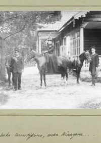 LNTI 7.24 Aleksandra Lvovna à cheval