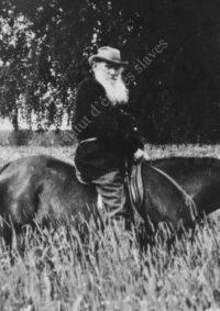 LNTI 8.23 L.N. Tolstoï en promenade à cheval à Iasnaïa Poliana