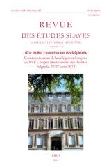Communications de la délégation française au XVIe Congrès international des slavistes