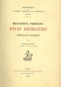 Manuscrits parisiens d'Ivan Tourguénev
