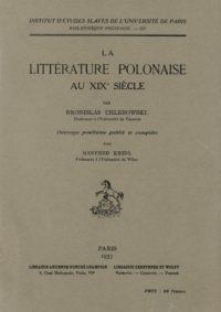 La littérature polonaise au XIXe siècle
