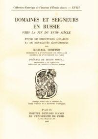 Domaines et seigneurs en Russie vers la fin du XVIIIe siècle