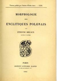 Morphologie des enclitiques polonais