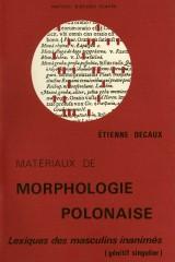 Matériaux de morphologie polonaise