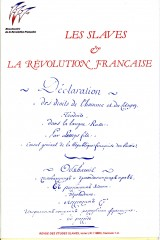 Les Slaves et la Révolution française
