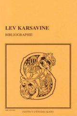 Bibliographie des œuvres de Lev Karsavine