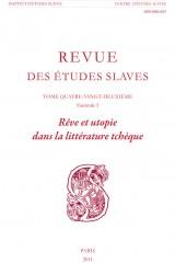 Rêve et utopie dans la littérature tchèque