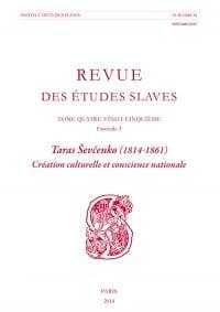 Taras Sevcenko (1814-1861). Création culturelle et conscience nationale