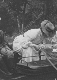 LNTI 3.15 L.N. Tolstoï avec sa fille Aleksandra et son petit-fils Micha