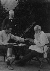 LNTI 5.28 L.N. Tolstoï avec le Docteur Makovicky et V.F. Boulgakov
