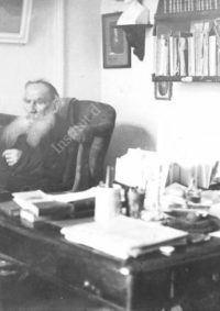 LNTI 8.13 L.N. Tolstoï dans son cabinet de travail
